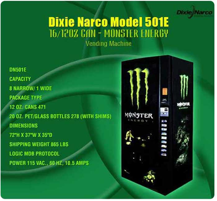 Dixie Narco 501E Retro Monster