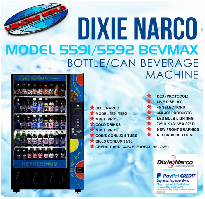 Dixie Narco Model 5591 Bevmax Beverage Machine