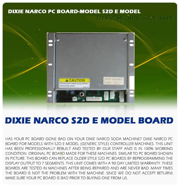 Dixie Narco S2D-E PC Board