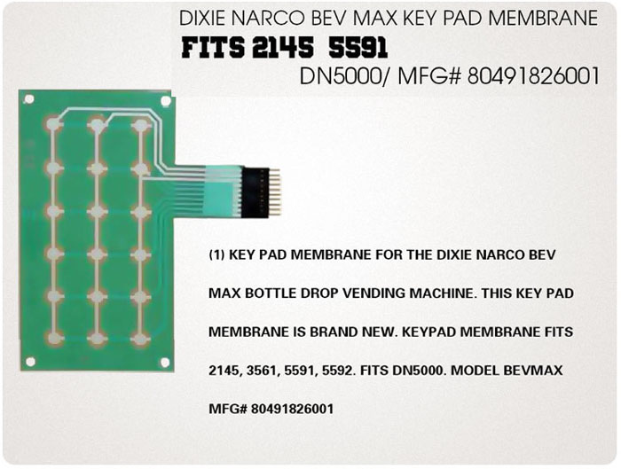 Dixie Narco membrane for 5591 Bev-Max machines