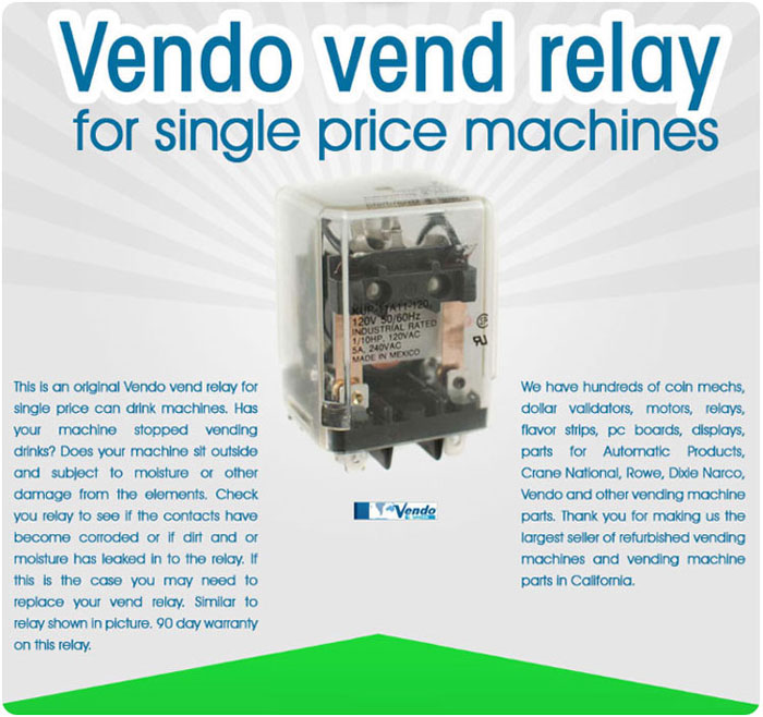 Vendo Soda Machine Vend Relay